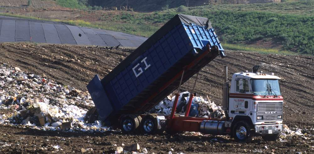 Food dumped in landfill