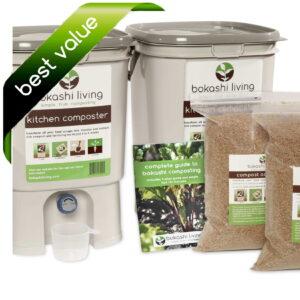 Bokashi Composting starter kit: 2 bin