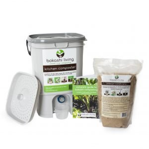 Bokashi Composting Starter Kit (1 bin, 1 bag)
