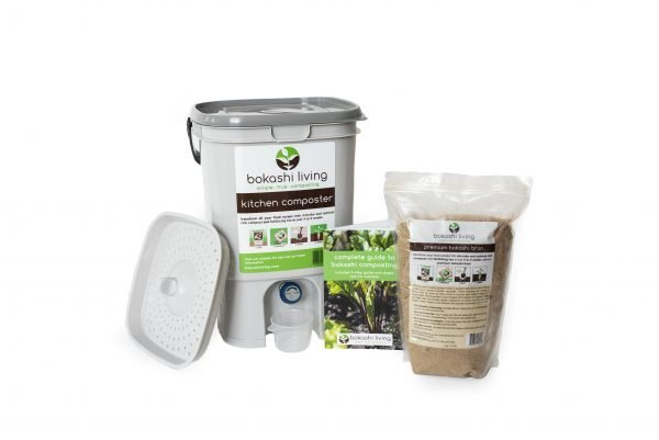 Bokashi Composting Starter Kit (1 bin, 1 bag)