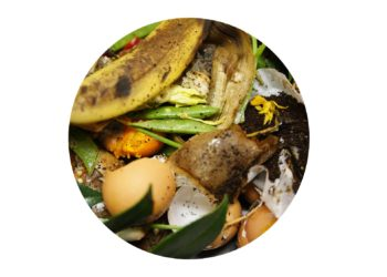 Food waste ready to be bokashi composted