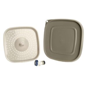 Replacement parts - Bokashi bucket lid, spigot and drainer plate