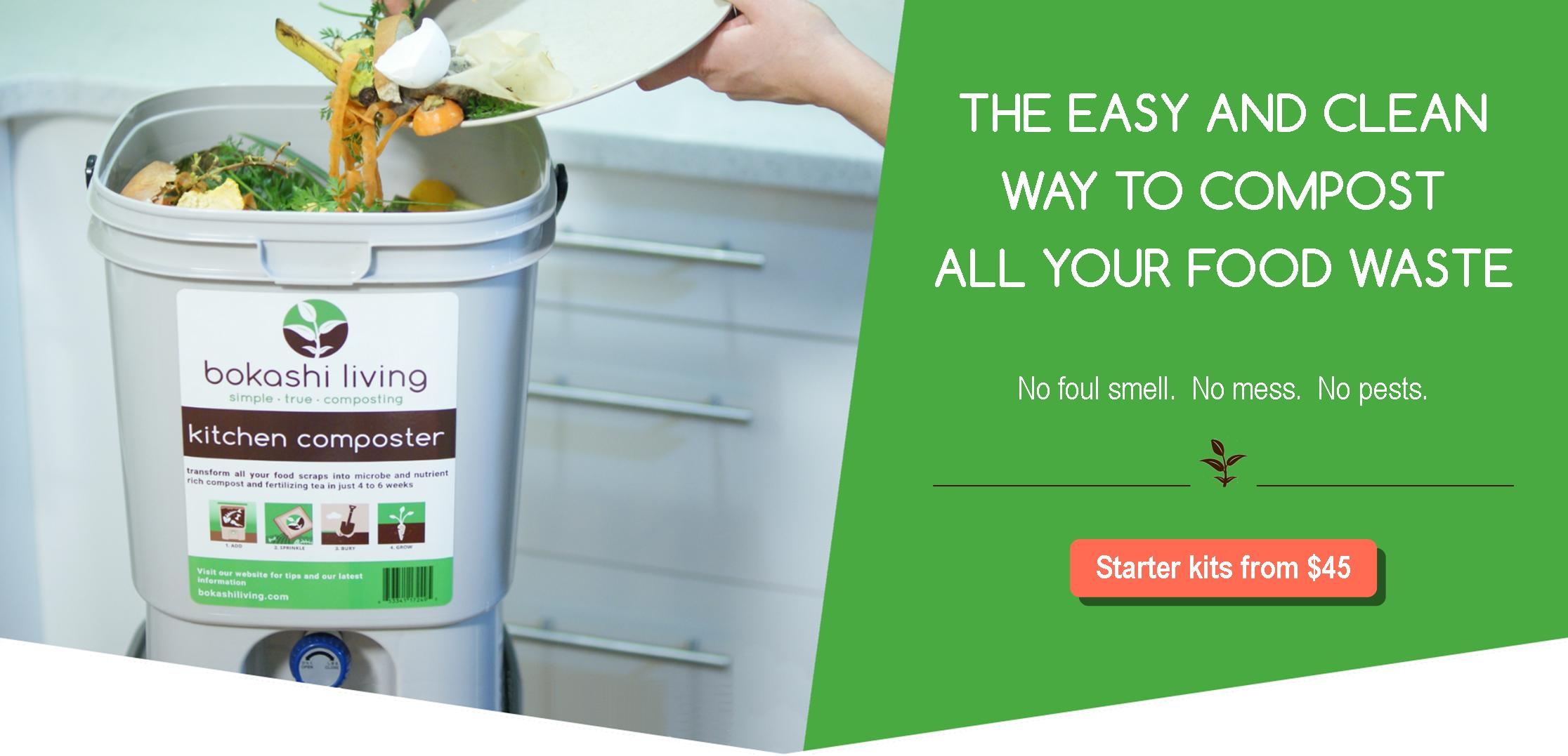 Bokashi composting: The easy and clean way to compost all your food waste. No foul odor. No mess. No pests.