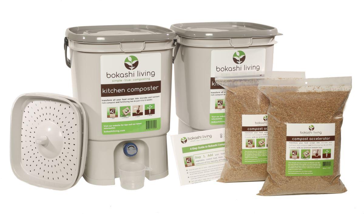 Bokashi composting starter kit